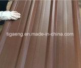 Material para techos grabado del metal del color con fieltro en las hojas detrás acanaladas de PPGI