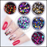 Лак для ногтей - Блестящие цветные лаки порошок, 3D-лак для ногтей DIY хлопья пайетками украшения