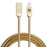 câble usb rapide de foudre en métal 2A en alliage de zinc et câble de synchro de caractéristiques pour le mobile d'iPhone