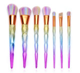 insieme di spazzola di cristallo di trucco della maniglia del Rainbow 7PCS