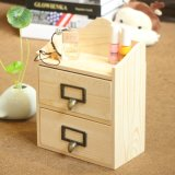 Caixa da madeira de gabinete de Mni do vintage da jóia do armazenamento da gaveta do armazenamento Home mini