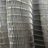 Dekorative Edelstahl-Scheibe-flexible Treppen-Balkon-Balustrade
