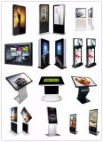 Quiosco grande del soporte del suelo de la pantalla táctil que hace publicidad de la visualización de la señalización del LCD Digital