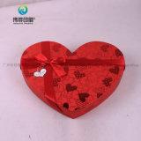 Изготовленный на заказ коробка подарка картона свадебного банкета формы сердца