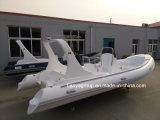 Liya 20FT bateau gonflable rigide en fibre de verre Hypalon Rib Bateaux