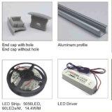 Anodisierte verdrängte Aluminium-LED Profil-Hersteller Soem-6063