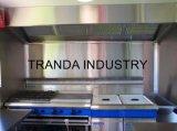 Het nieuwe Roestvrij staal van de Gebraden gerechten &More van de Taco's van de Hamburgers van Hotdogs allen in Één Kar van het Voedsel