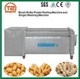 De Machine van de Schil van de Aardappel van de Rol van de borstel en de Wasmachine van de Trommel van de Gember