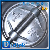 Tipo zero valvola a farfalla dell'aletta dell'acciaio inossidabile di perdita di Didtek