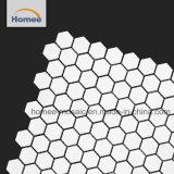 Mosaico blanco nuevo diseño hexagonal pequeño mosaico de cocina
