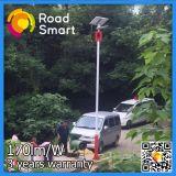 Iluminação solar Integrated do jardim da rua do diodo emissor de luz com o sensor de movimento da micrôonda