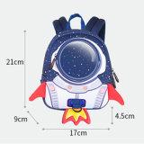 Мешки школы шаржа космоса Backpack 3D Rocket младенца малышей детей для мальчиков девушок