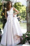 Платье партии a выпускного вечера шнурка V-Neckline - линия длинние платья вечера Z7019