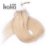 Brasileira de qualidade superior Remy de cabelo humano 20 Polegadas Loop Micro cabelos loiros