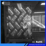 P3.9/7.8 mm de haut taux de rafraîchissement écran LED transparentes pour la publicité