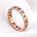 La joyería del acero inoxidable suena el anillo de bodas del anillo de dedo de la manera