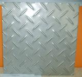 Placa Checkered do aço inoxidável do material de construção (201/304/316)