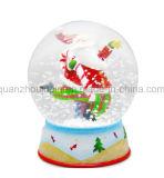 Palla di neve decorativa Snowdome dei globi della neve del mestiere della resina dell'OEM