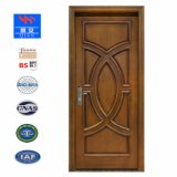 Luxury Villa Double-Leaf porta principal de madeira maciça com cabeça de porta