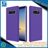 Caja a prueba de choques modificada para requisitos particulares líquido caliente del teléfono del silicón de la venta para la nota 8 de Samsung
