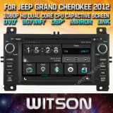 Tela de Toque do Windows Witson aluguer de DVD para Jeep Grand Cherokee 2012