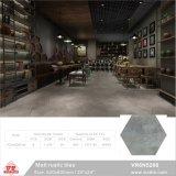 Material de construcción de Foshan gris cerámico rústico piso de baldosas de porcelana seis esquinas (VR6N5210, 520x600mm/20''x24'')