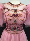 Robe perlante rose de soirée de modèle initial