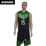 Pullover su ordinazione all'ingrosso di pallacanestro della squadra degli uomini neri e verdi (BK004)