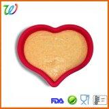 Grand carter de traitement au four de moulage de gâteau de forme d'amoureux de silicones