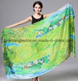 lenço do cetim 100%Silk para a senhora Mulher