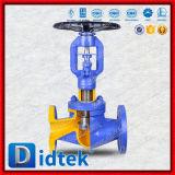 Robinet d'arrêt sphérique scellé par beuglement droit de beuglement de configuration de Didtek long