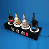 Caja de presentación negra de LED del acrílico