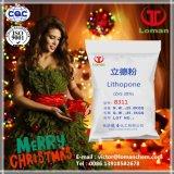 Litopón del contenido el 30% del sulfuro del cinc usado para la pintura, tinta, caucho, poliolefina, resina del ABS