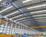 기중기를 가진 고강도 가벼운 강철 구조물 작업장