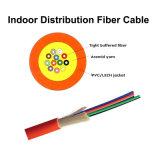 Fibra al aire libre del cable óptico 2/4/6/8/10/12 de fibra de Amored del tubo flojo central de GYXTW