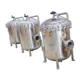 Alojamento do filtro de mangas de filtração de líquidos em aço inoxidável