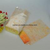 Limpar Grau Alimentício OPP Candy Cellophone Saco com cartão de prata de baixo