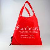 El logo impreso personalizado Pack plegable de cincha uso poliéster Bolsa de compras