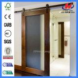 Portas deslizantes de vidro de madeira do Teak contínuo ao ar livre (JHK-G01)
