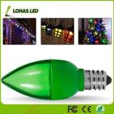 Bunte E12 LED Nachtglühlampe der Birnen-C7 1W grüne LED für Weihnachtsdekoration