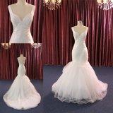 Платья сексуального нового изготовленный на заказ Mermaid шнурка сатинировки Bridal Wedding мантия