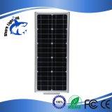 25ワットの統合された動きセンサーLEDの製造業者の太陽街灯