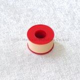 Bande 100% adhésive blanche de plâtre d'oxyde de zinc de couleur de la peau de bande de coton