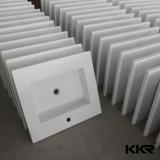 Petit contre- lavabo extérieur solide de marbre artificiel (B170815)