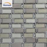 Materieller Steinmischungs-grauer Hauptglasstreifen-Glasmosaik-Fliese