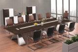 Mesa de reuniones de madera popular del acero inoxidable de la chapa del último diseño