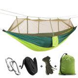 Hamac campant de Gtravel de tissu en nylon portatif de parachute avec la moustiquaire