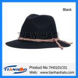 Breiter Randfedora-BergApline Hut mit Schnur