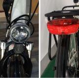 [غود برفورمنس] إمرأة درّاجة كهربائيّة مع [كرّير&بسكت&بك] مقادة