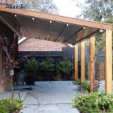 방수 Pergola 시스템 철회 가능한 지붕 차일